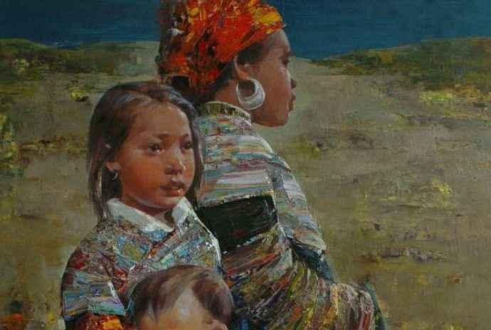 Вьетнамский художник. Ha Nguy Dinh 39