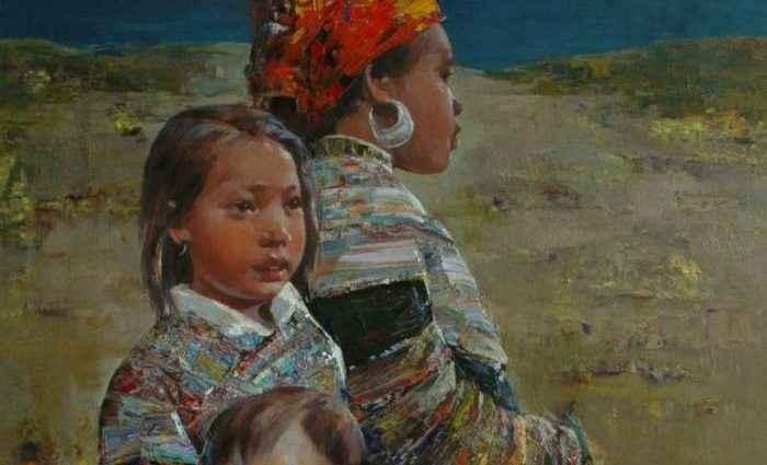 Вьетнамский художник. Ha Nguy Dinh 1