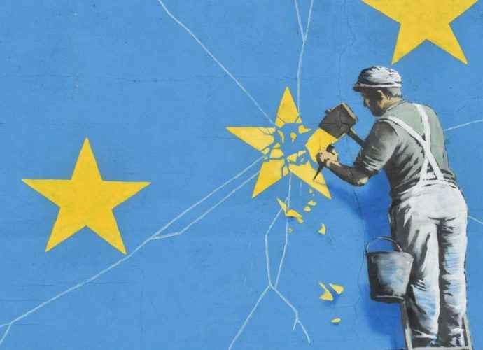 Новая работа Бэнкси посвящена Евросоюзу 6
