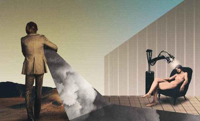 Окно в другой мир. Julien Pacaud (коллаж) 1