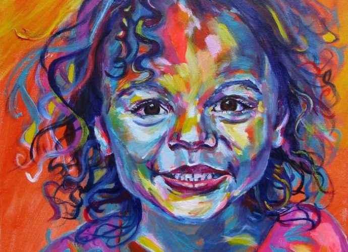 Выразительные и ярко красочные картины. Karin McCombe Jones 42