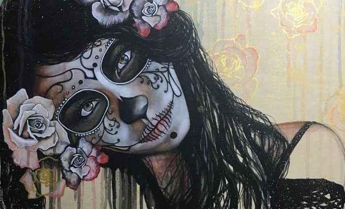Женские портреты и фигуративные картины. Kristina Ambriz 1