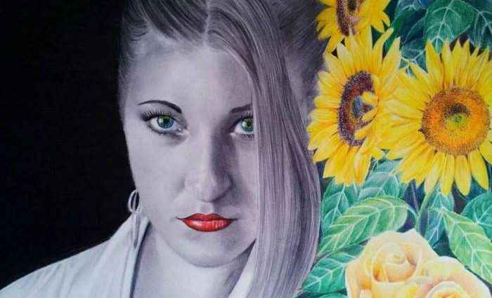 Простыми и цветными карандашами. Laura Muolo 1