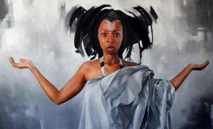 Южноафриканский художник. Loyiso Mkize 1