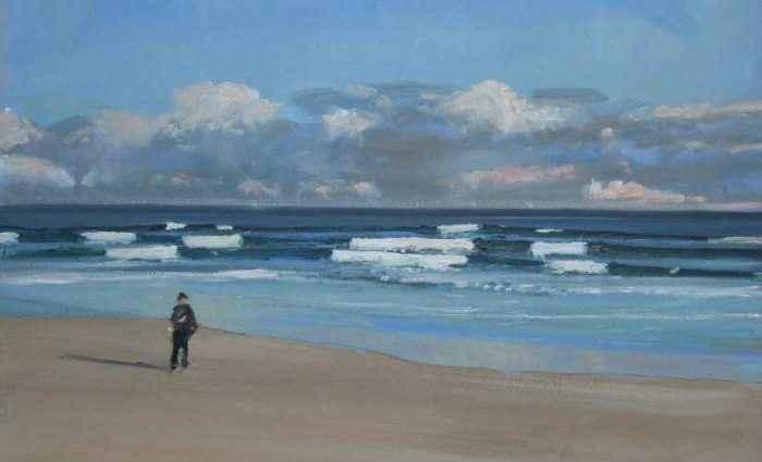 Морские пейзажи, картины пляжей Йоркшира и ню. Malcolm Ludvigsen 1
