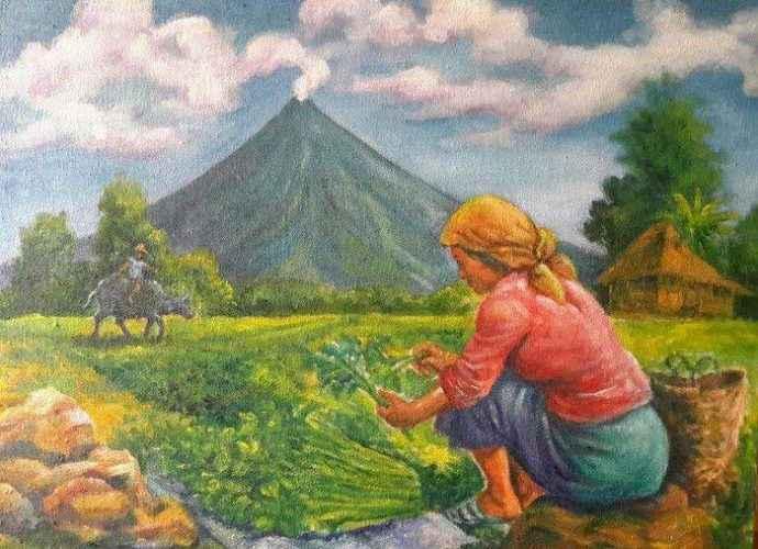 Личный мир в картинах филиппинского художника Manuel Cadag 148