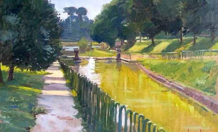 Итальянский художник. Традиционная пленэрная живопись. Marco Carloni 1