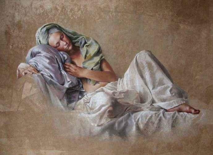 Женская натура в пастели. Nathalie Picoulet 67