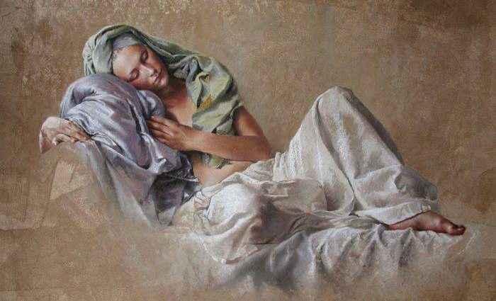 Женская натура в пастели. Nathalie Picoulet 1