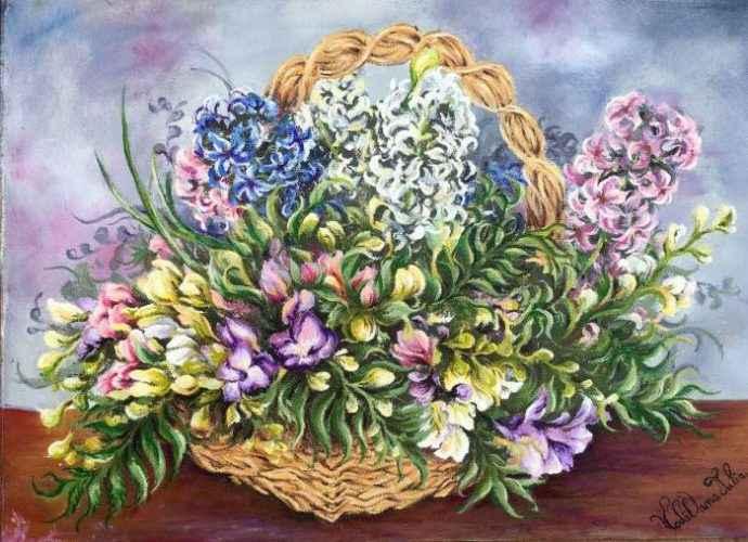 Пейзажи и цветы. Румынский художник. Oana Voda 170