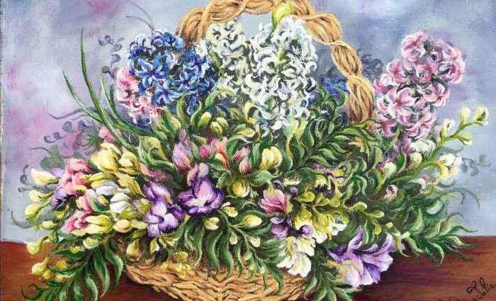 Пейзажи и цветы. Румынский художник. Oana Voda 1