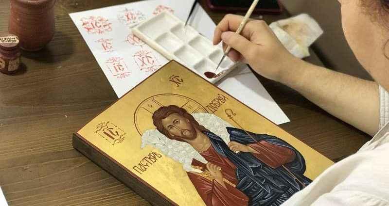 Как пишутся православные иконы в иконописной мастерской 1