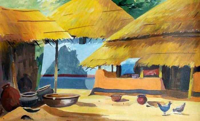 Индийский художник. Samiran Sarkar 1