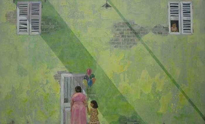 Вьетнамский художник. Tran Quoc 1