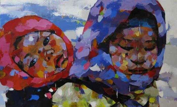 Вьетнамский художник. Van Chu 1