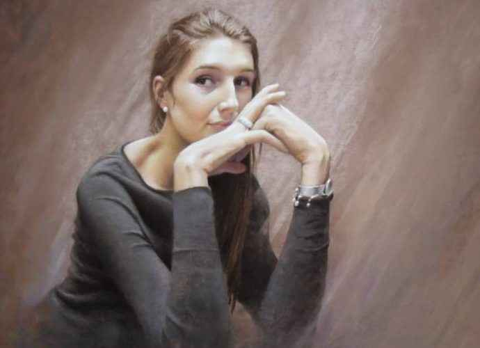Бельгийский художник. Andree Bienfait 244
