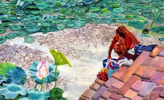 Рисунки акварелью. Bhagvati Nath 1