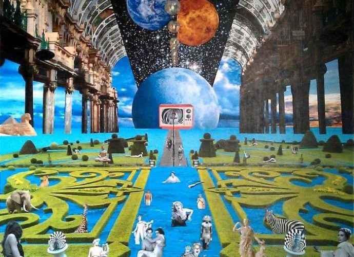 Ретро-футуристический мир. David Ameil (коллаж) 211