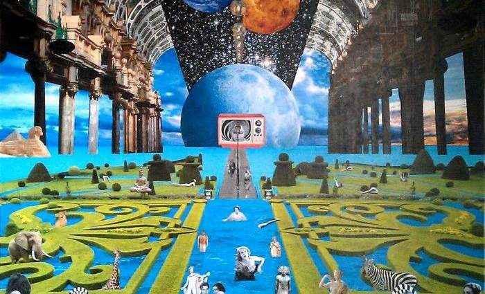 Ретро-футуристический мир. David Ameil (коллаж) 1