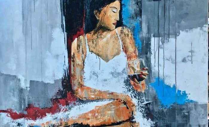 Красивые женщины, бокал вина или просто любовь. Eric Bourse 1