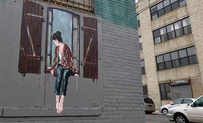 Стрит арт искусство. Jana & JS (street art) 1