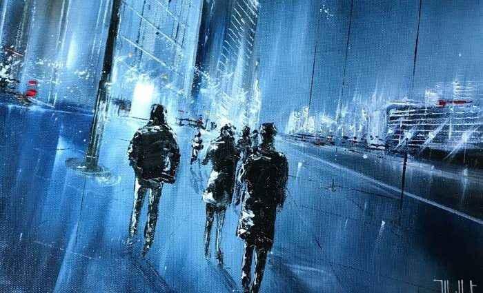 Ночные городские пейзажи. Jerome Guillet 1