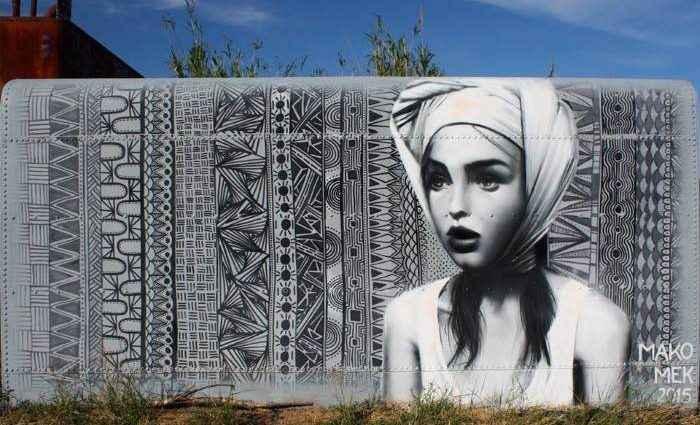 Уличный художник. Mako Deuza (стрит арт) 1