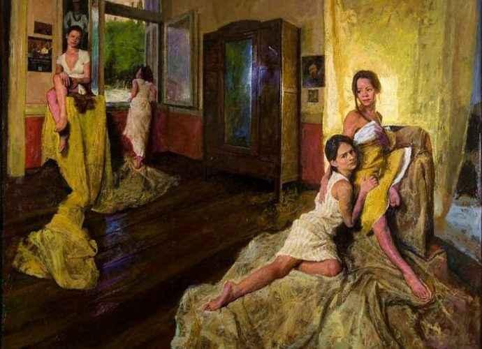 Женская фигура и яркий реализм. Rafail Baikas 94