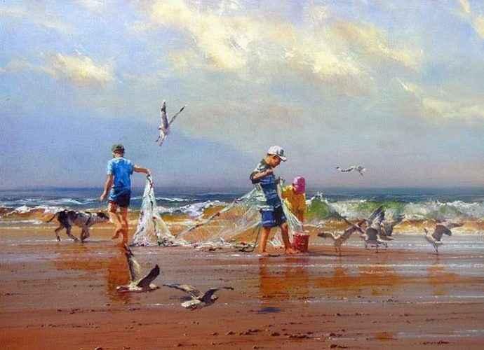 Австралийский художник. Robert Hagan 221