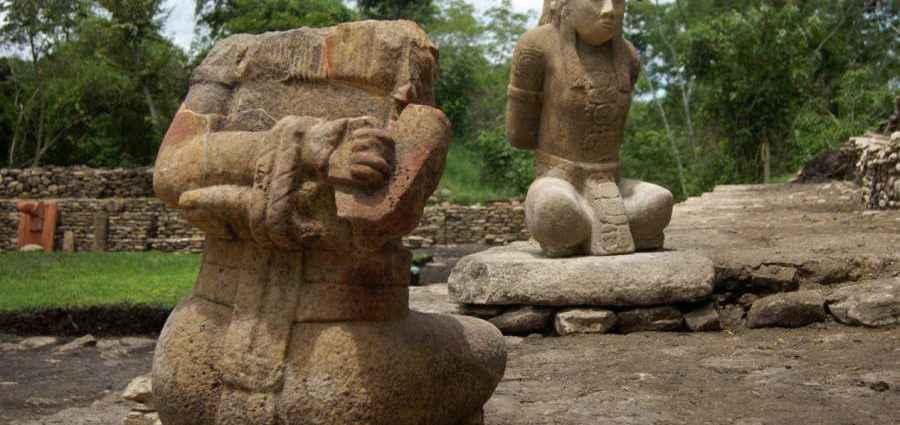 Скульптура древних майя 1