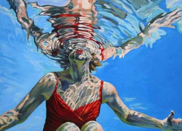 Картины женских фигур в воде. Vicki Smith 21
