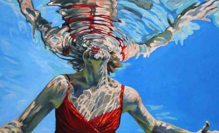 Картины женских фигур в воде. Vicki Smith 1