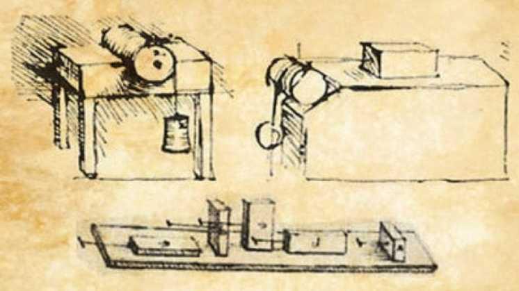 Леонардо да Винчи опередил исследователей силы трения на 200 лет 1