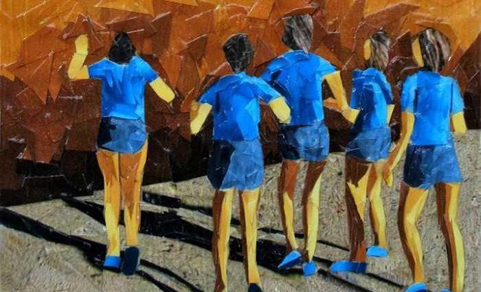 Картины-мозаики из бумаги. Albin Talik 1