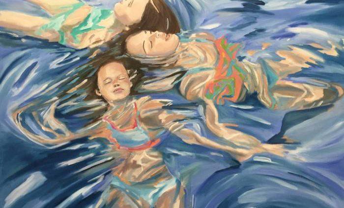 Сочетание тела, ткани, света и воды. Angie Sinclair 1