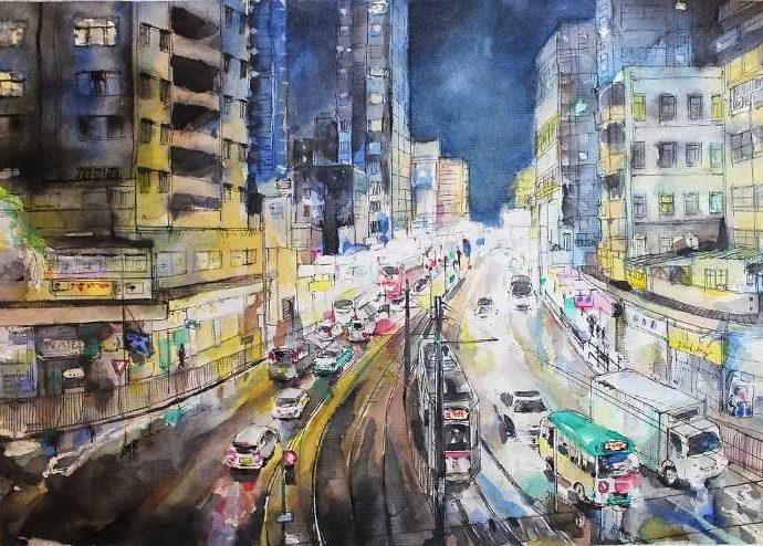 Китайский художник-акварелист. Elaine Chiu 32