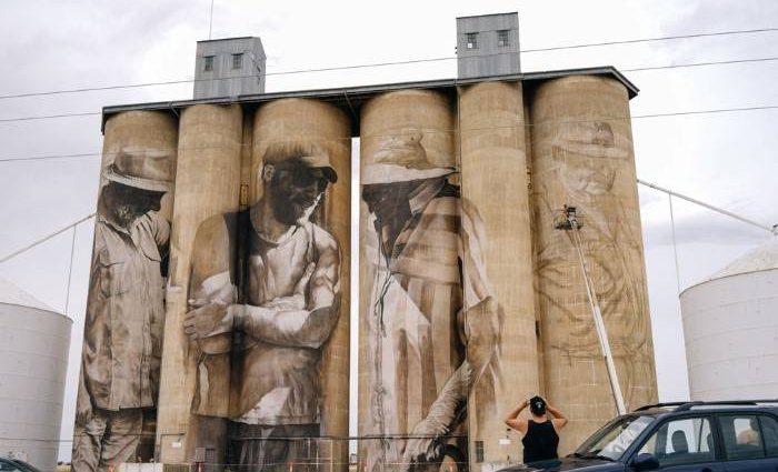 Австралийский уличный художник. Guido Van 1
