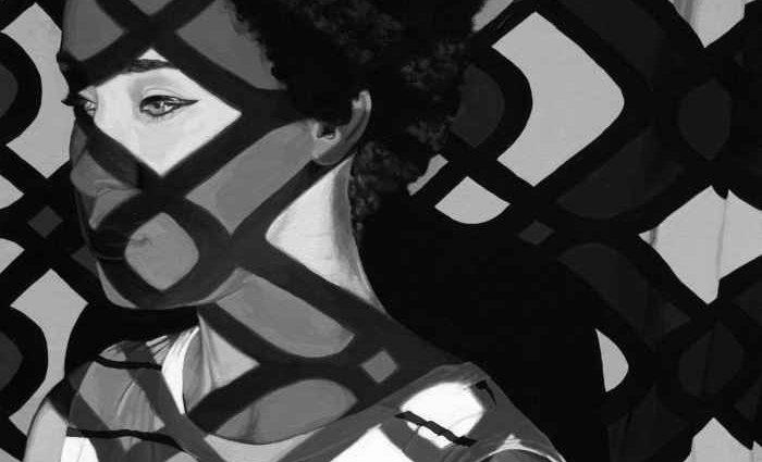 Черно-белая портретная живопись. Rebecca Mason Adams 1