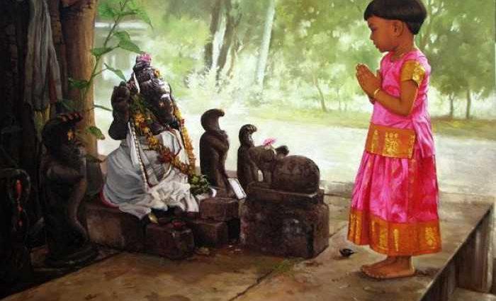 Индийский художник. S Elayaraja 1