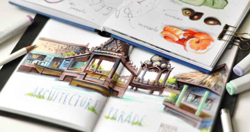 Скетчбук для творчества и путешествий 1