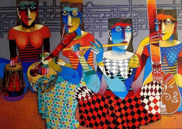 Индийский художник. Dayanand Kamakar 11