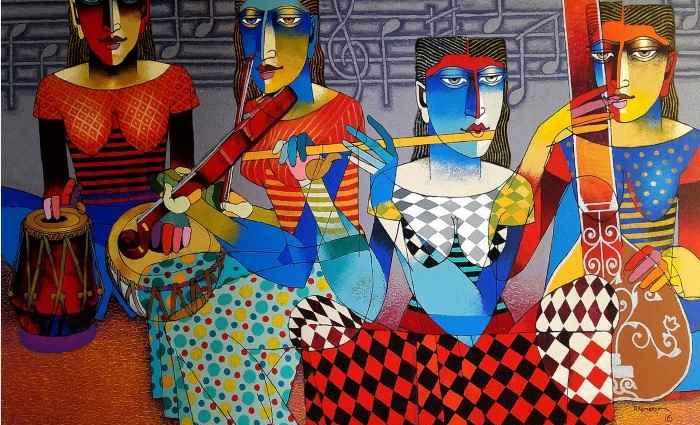 Индийский художник. Dayanand Kamakar 1