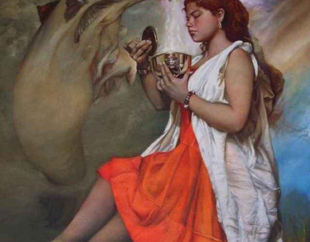 Перуанский художник. Javier Pacheco Almeyda 166