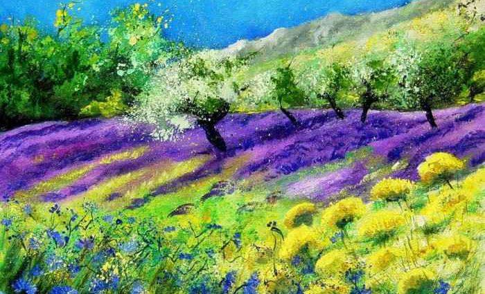 Pol Ledent. Современный художник-самоучка. Пейзажи и цветы 1