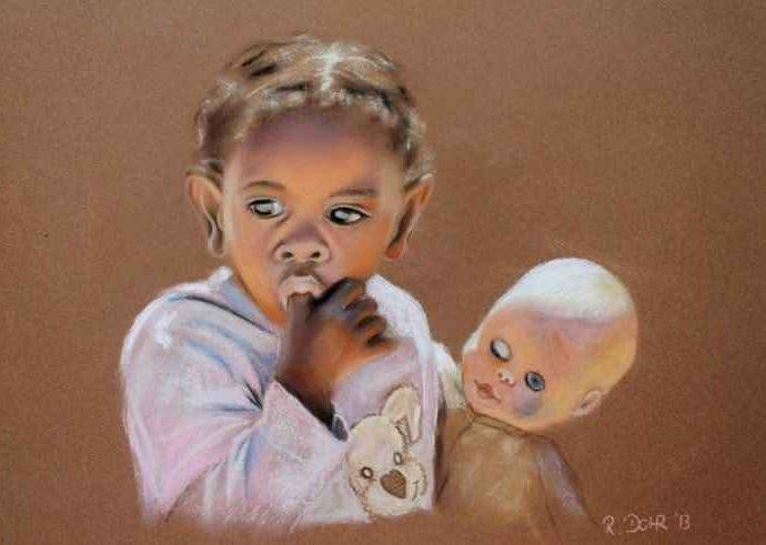 Картины пастелью. Renate Dohr 122