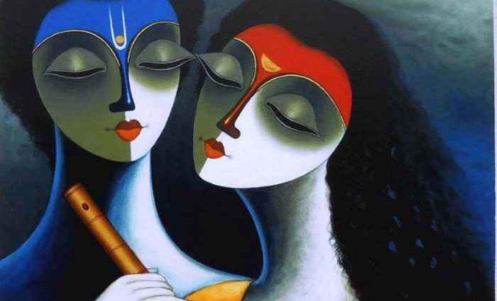 Индийский художник. Santosh Chattopadhyay 1