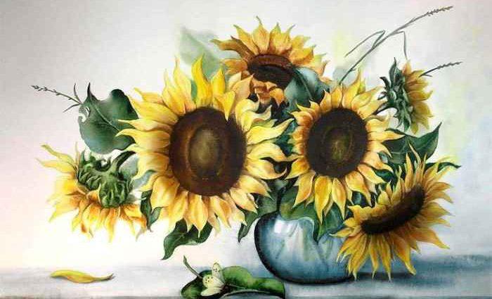 Акварельные рисунки цветов. Валентина Валевская 1