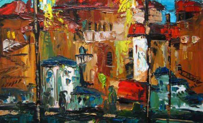 Молодой молдавский художник. Valeria Duca 1