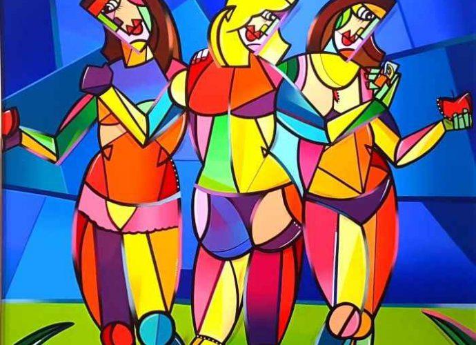 Красочные и геометрические полотна. Julien Raynaud 42