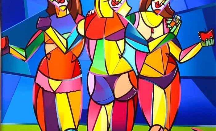 Красочные и геометрические полотна. Julien Raynaud 1